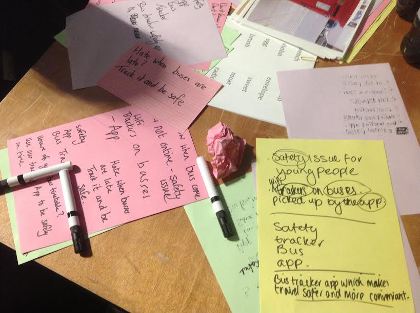 Generating ideas with school students