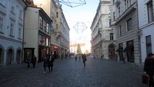Looking back to Triple Bridge from Sritarjeva ulica