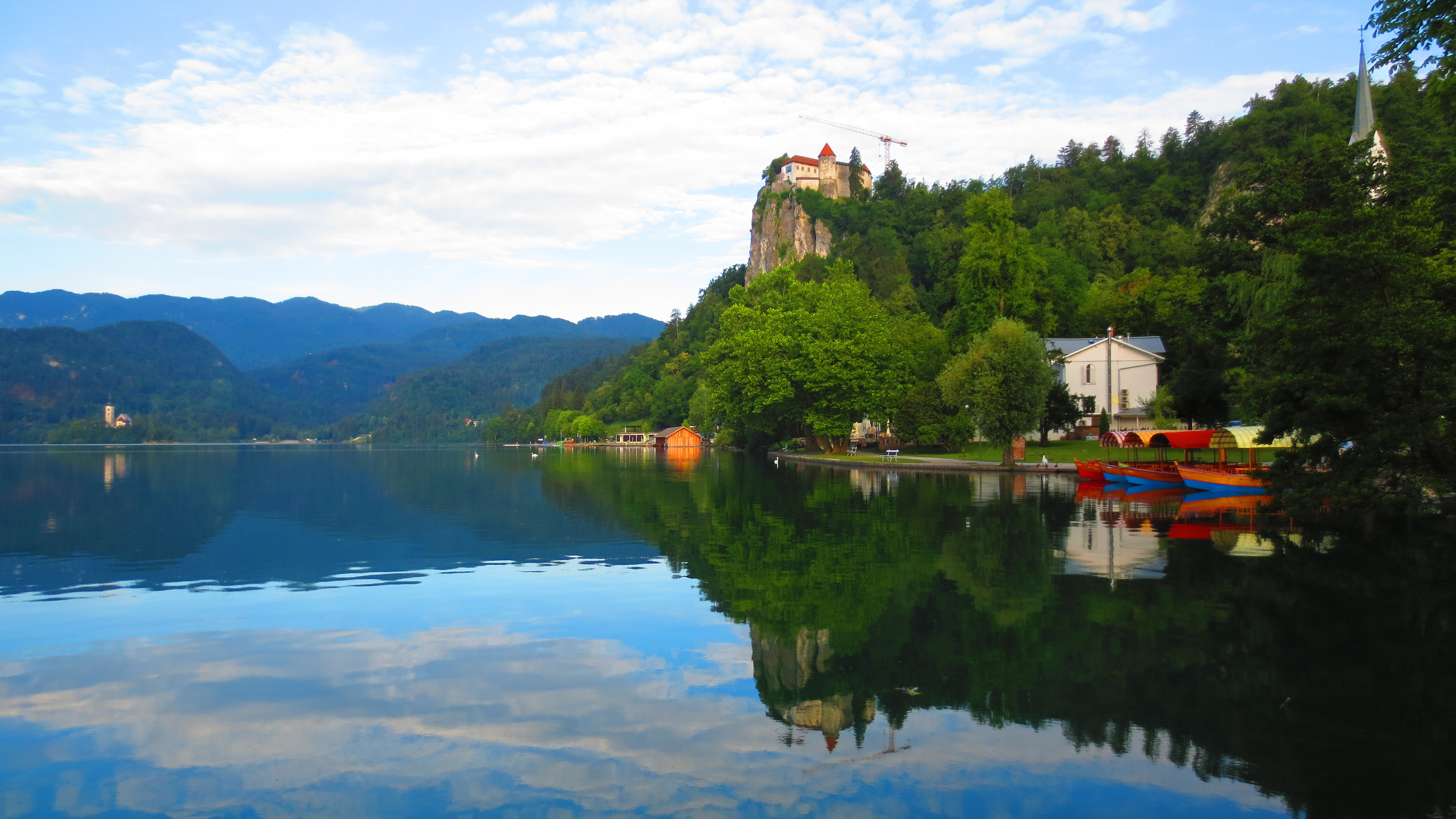 A first view of Lake Bled
