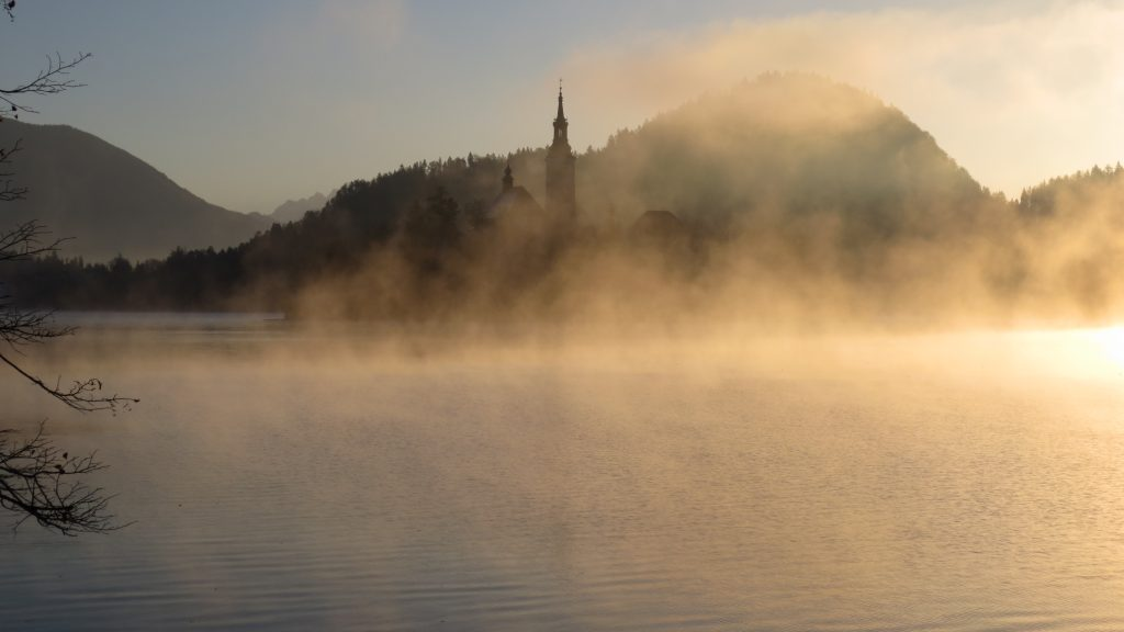 Bled Island in the morning mist