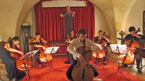 cello players at Festival Bled