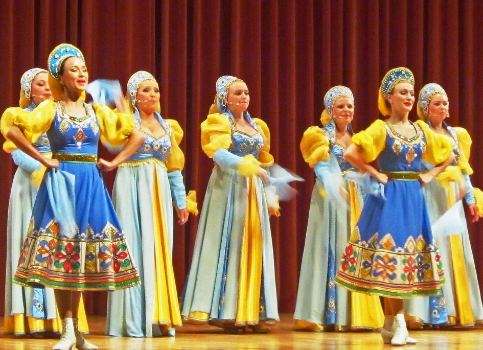 Russian dance troupe performing at Festivalna dvorana Bled