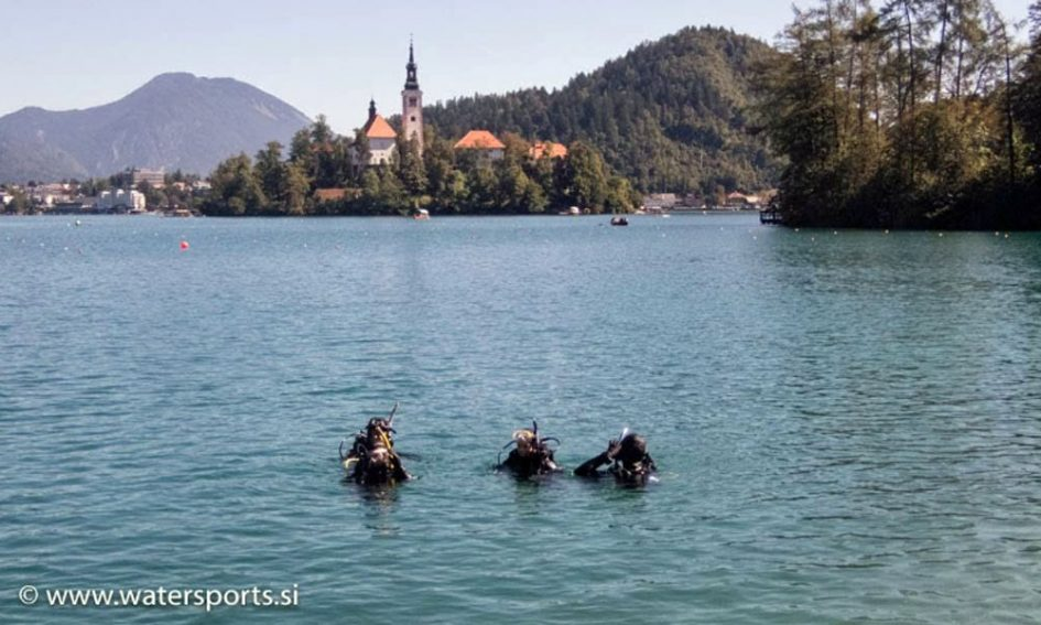 Diving in Lake Bled